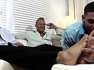 Gay sex with moaning straight men Ricky Worships Johnny & Jo