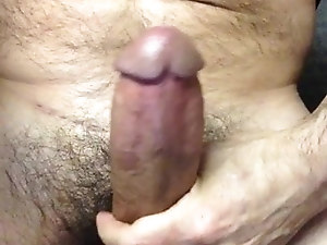 Close Up Daddy Cumshot