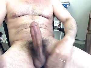 Daddy Stroking In The Office
