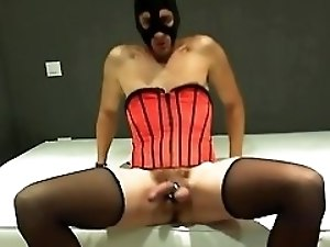 Bondex - cam show vol. 7 - red corset hands free cum