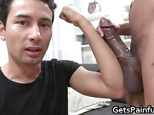 Dude riding some fat black dick