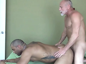 Grandpa fucks his muscle toyboy