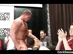 Muscled stripper gets whipcream licked part1