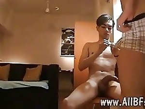 POV style blowjob and dirty ass-to-mouth twink fun