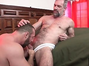 Beefy Bear Brad Kalvo Fucks Hot Daddy Peter Rough