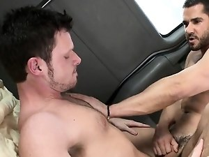 Lusty anal drilling with a charming flower boy and lewd chap