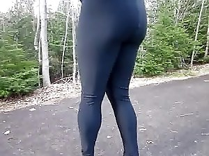Lycra and pumps outdoors