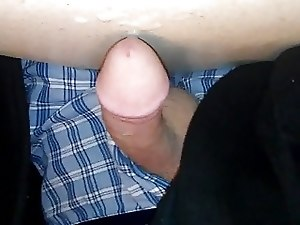 Draining my balls with a huge cum shot