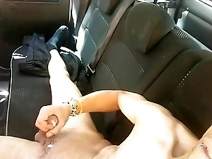 Spanish Twink Jerks Off Into A Car In Public Parking
