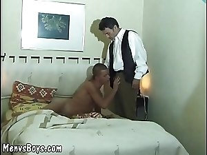 Hairy gay bear having fun with twink