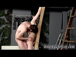 Male bondage hand job gay Victim Aaron gets a whipping, then gets his