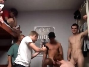 Gays acquire incredible enjoyment of hardcore gang bang