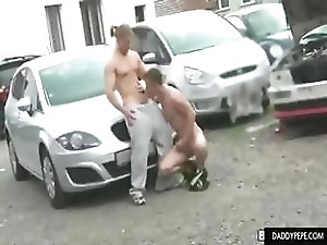 parking lot blowjob